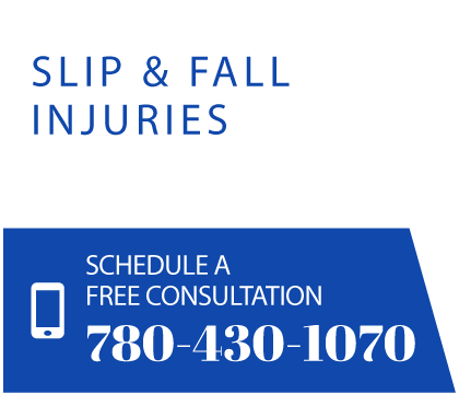 Slip & fall injuries. Schedule a free consultation 780-430-1070