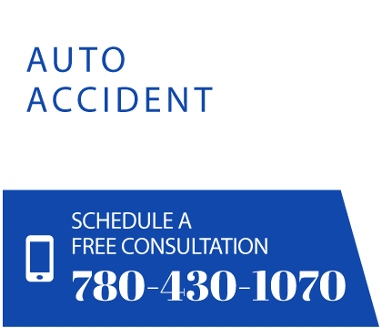 Auto accident. Schedule a free consultation 780-430-1070